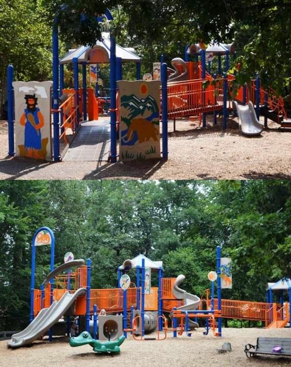 Entrance Main Ashburn Park Playground