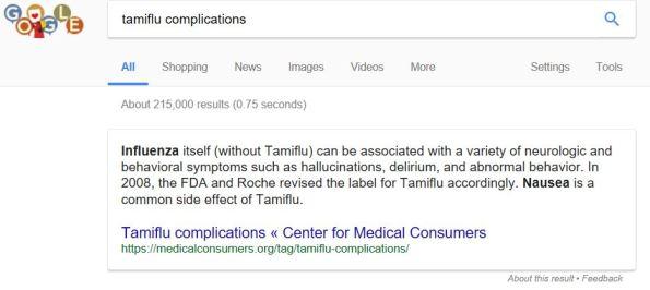 Tamiflu safe